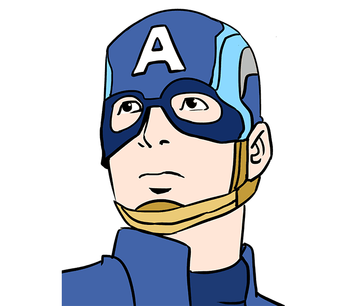 How to draw in. Drawing marvel captain america clip stock