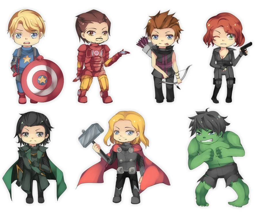 Avenger drawing baby. Chibi avengers adorable superheroes