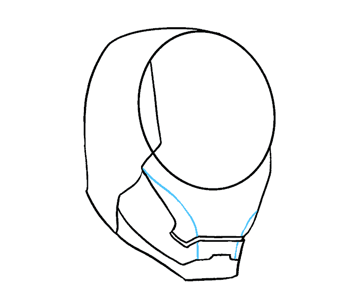 Avenger drawing face. How to draw iron