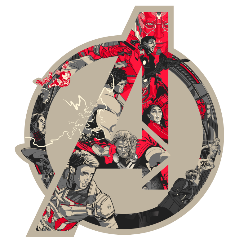 Avengers age of ultron logo png. Official art poster print