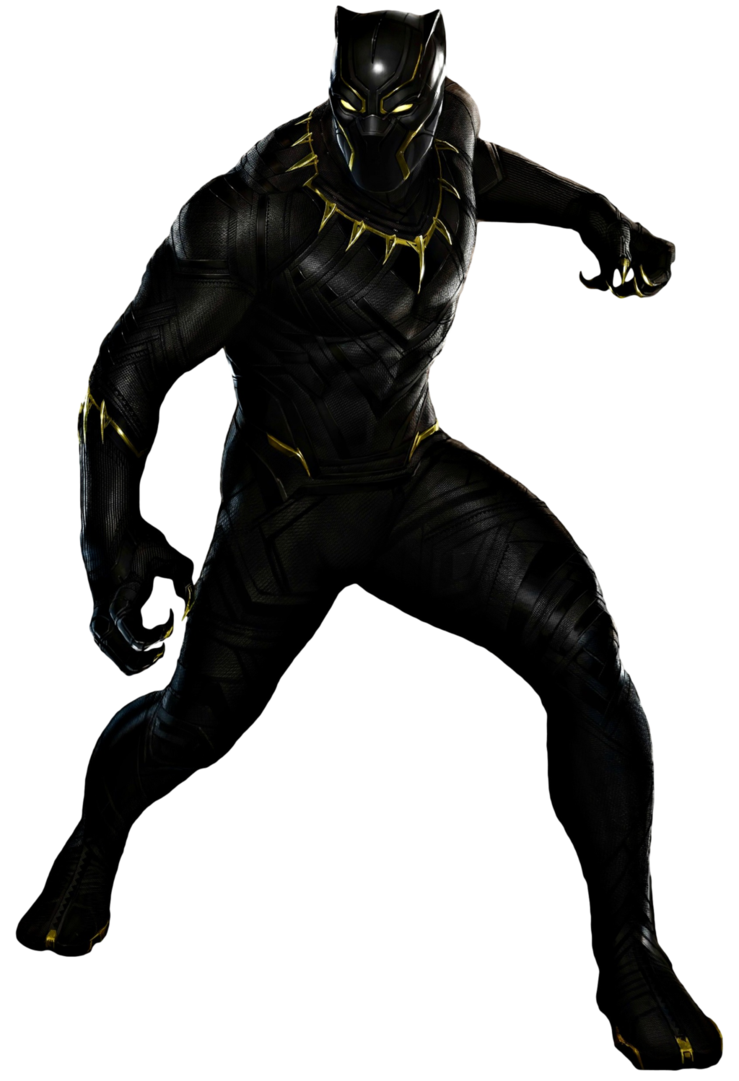 Avengers clip black panther. Transparent background by camo
