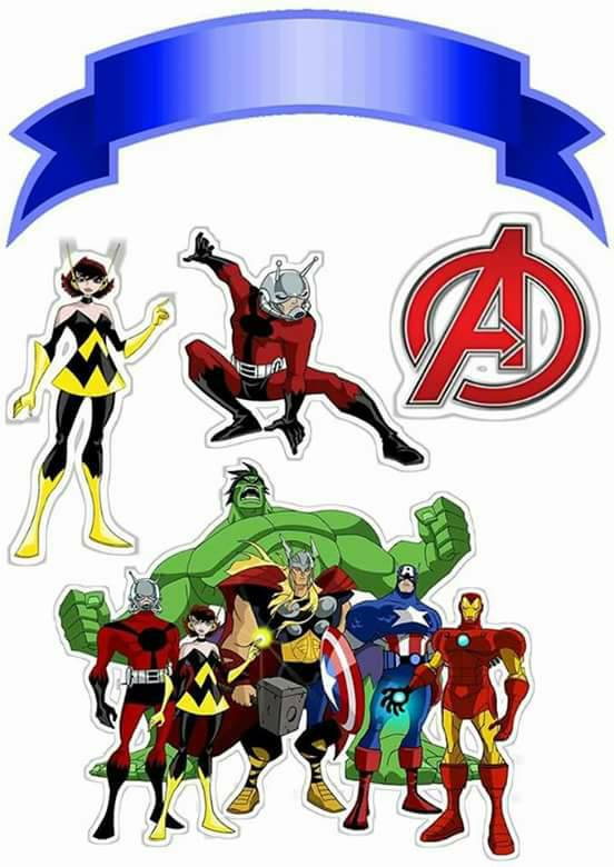 Avengers clipart printable. Free cake toppers oh
