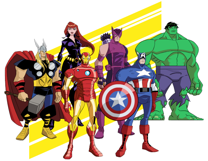 Avengers clipart avengers movie. Heroes group