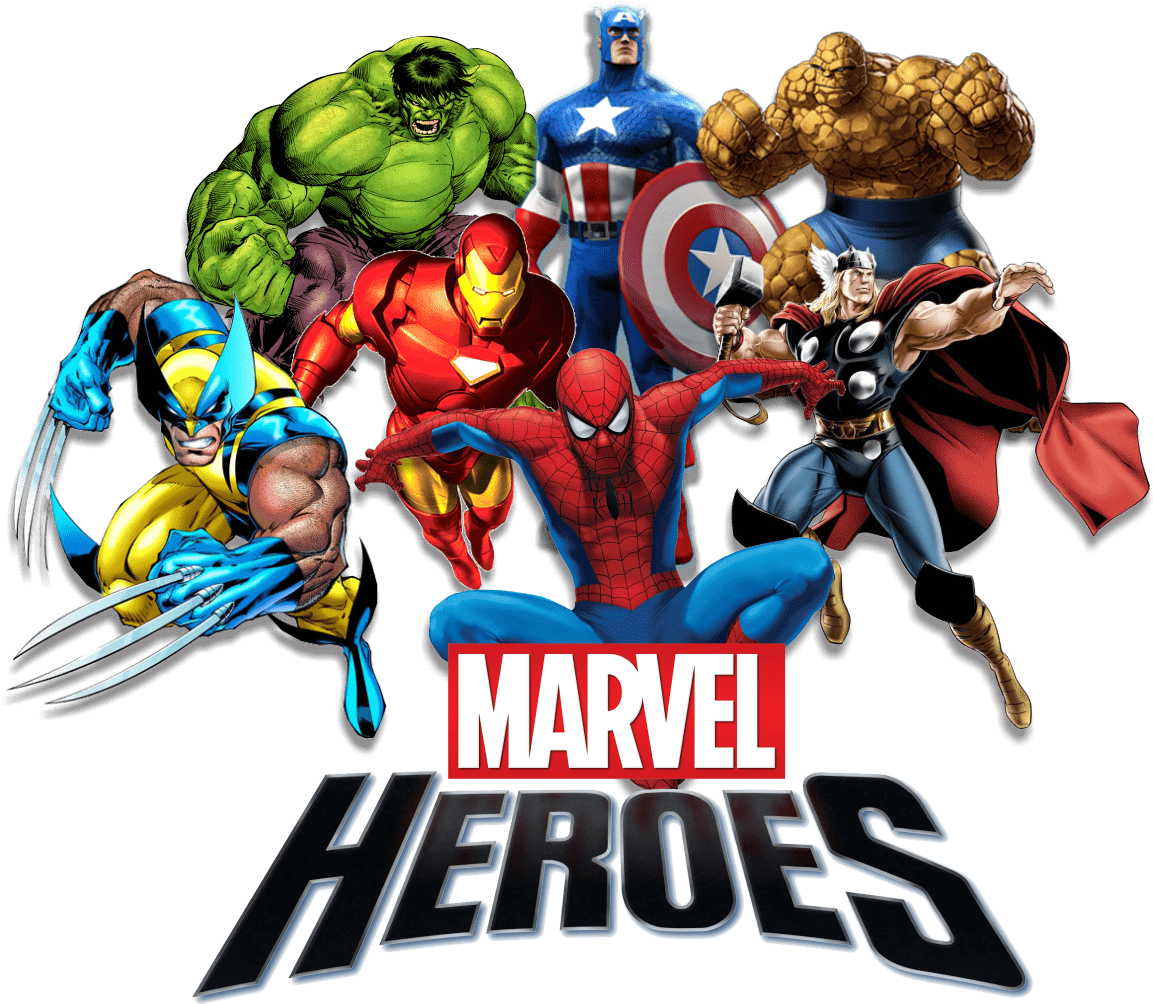 Marvel png images. Heroes transparent stickpng comics