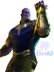Avengers infinity war thanos png. Render by soyiroh on