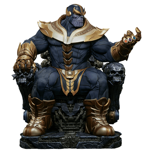 Avengers infinity war thanos png. Marvel on throne sideshow