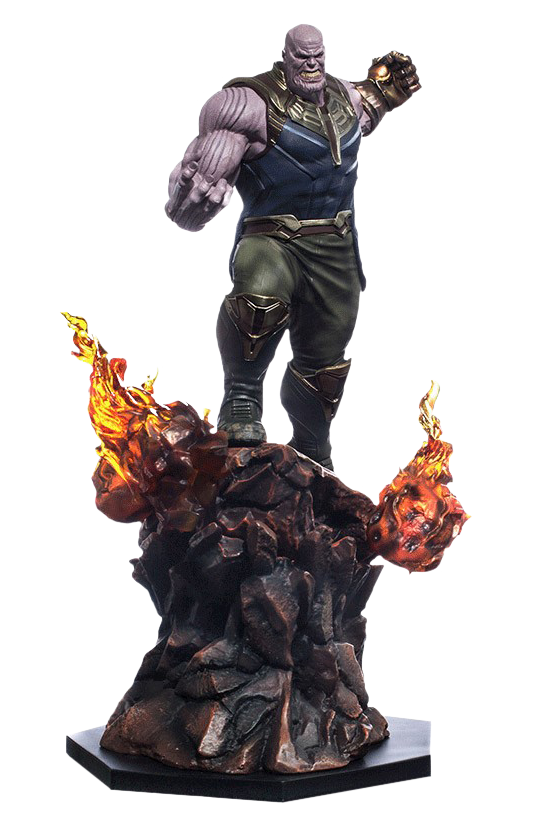 Avengers infinity war thanos png. Th scale statue by