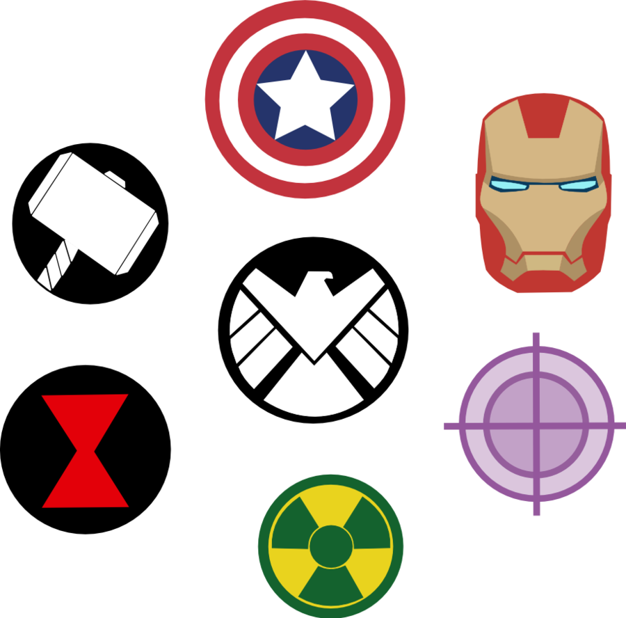 Drawing marvel symbol. Avengers symbols by captain