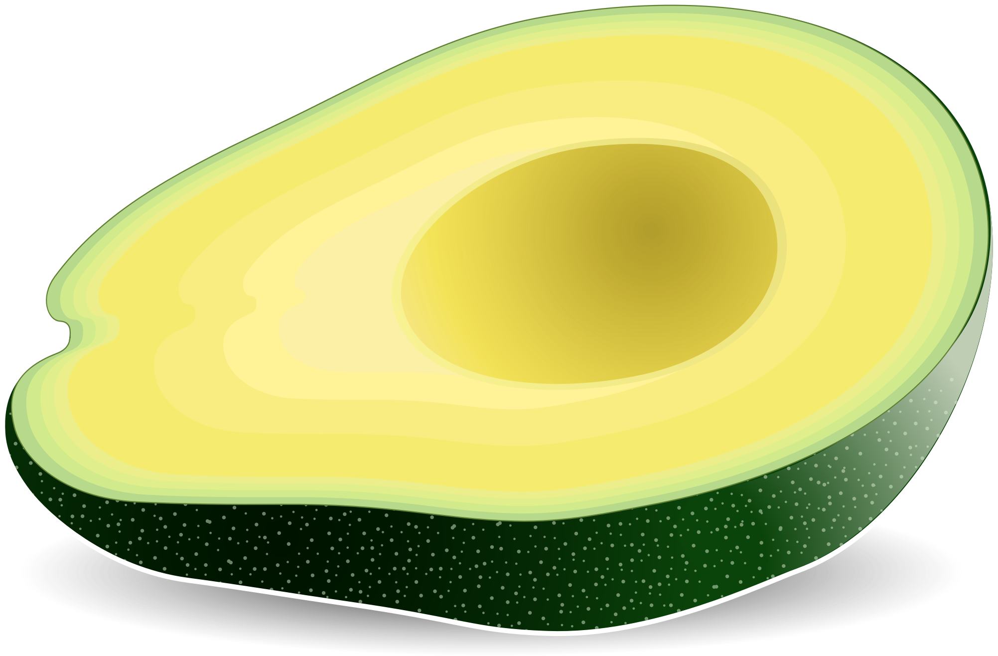 Big image. Avocado clipart png svg black and white