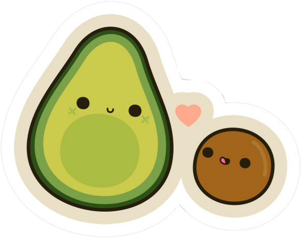 Cute clipart avocado. Download tumblr avocados png