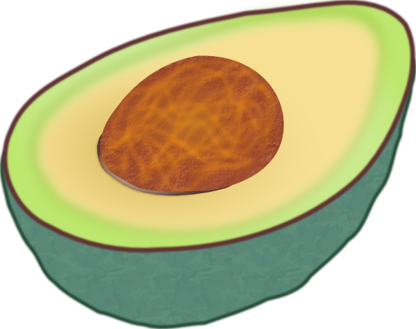 Avocado clipart large. Clip art at clker