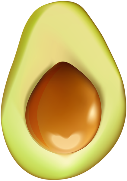 Half clip art image. Avocado clipart png clipart royalty free library