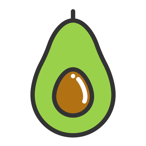 Cute clipart avocado. Fruits icon with png