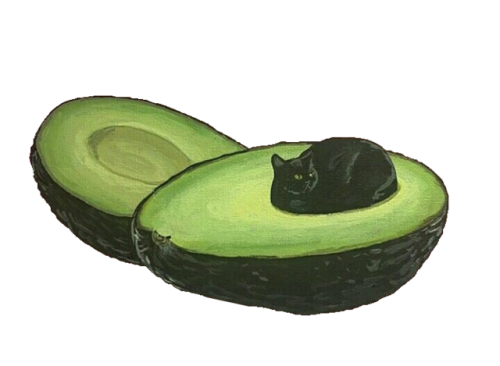 Transparent avocado tumblr. Png made by the