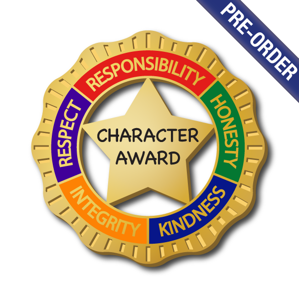 Award badge png. Character by school badges