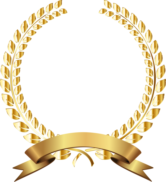 Laurel wreath gold png. Bay award free commercial