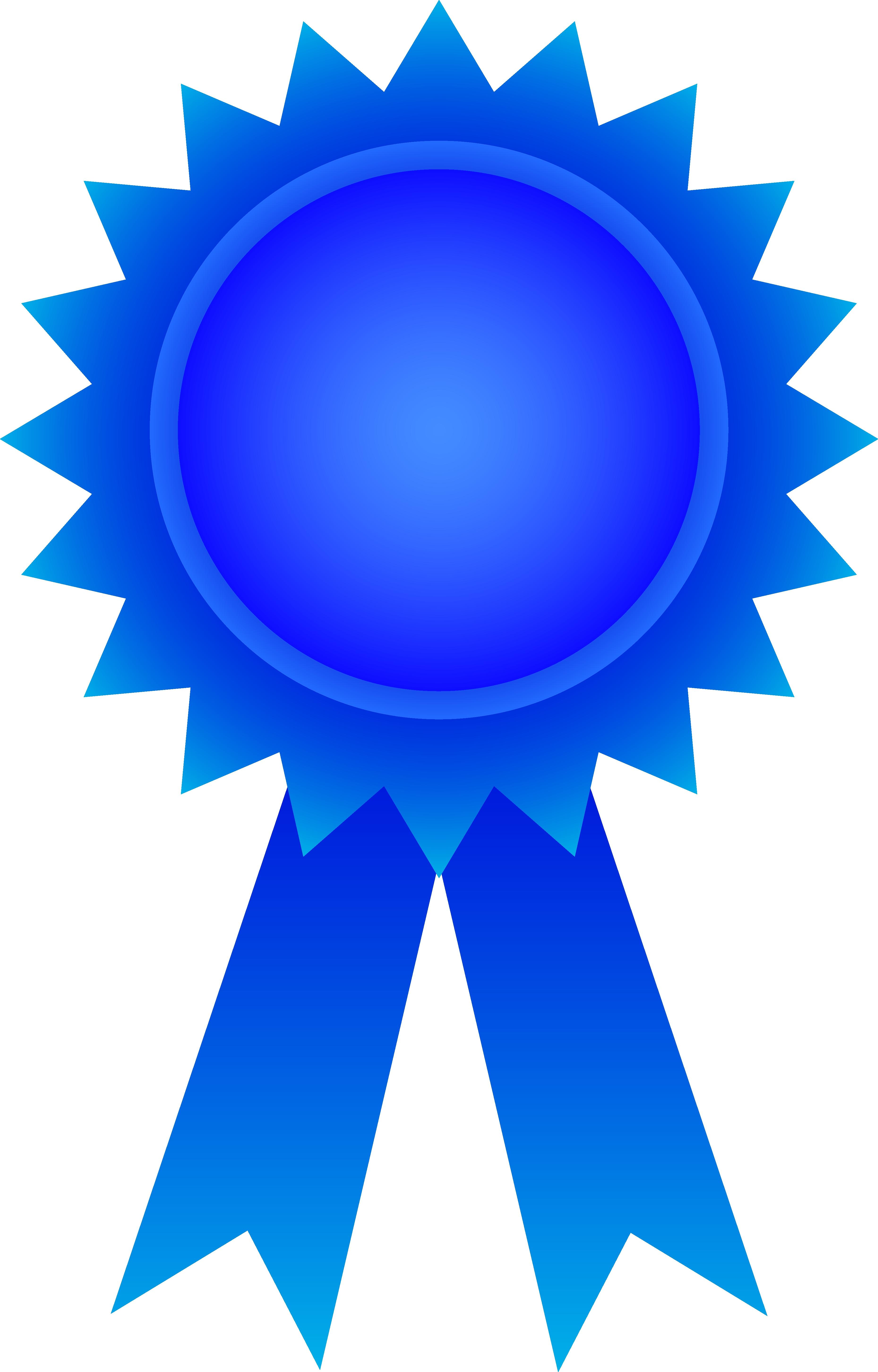 Award clipart. Blue ribbon