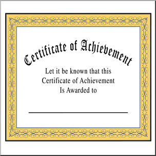 Certificate clipart awarded. Clip art of achievement