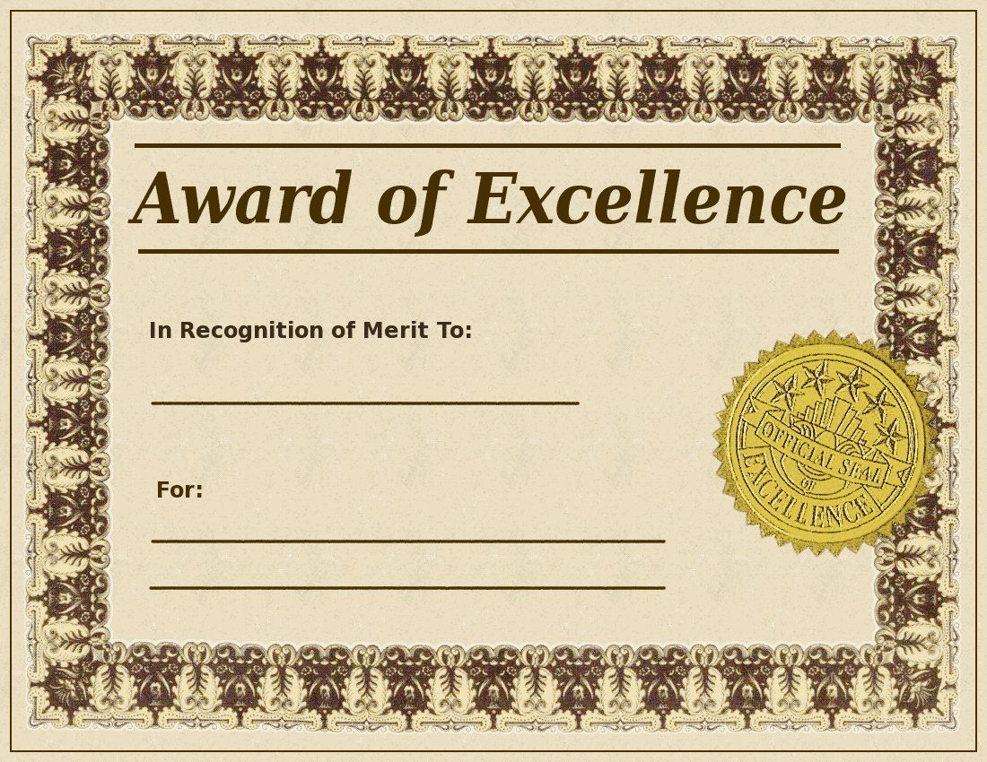 Certificate clipart awarded. Blank award templates search