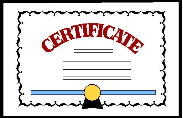 Award clipart certificate. Recognition certificates