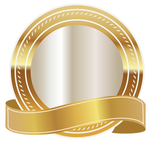 Golden ribbon png. Gold seal with clipart