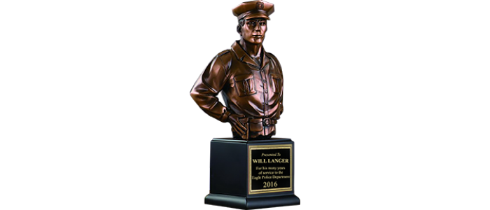 Award statue png. Police bust