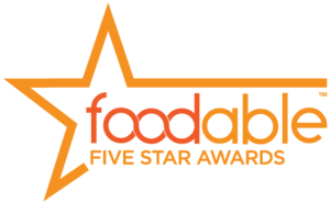 Award transparent 5 star. Foodable announces the winners