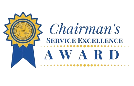 Award transparent excellence. County board chairman s