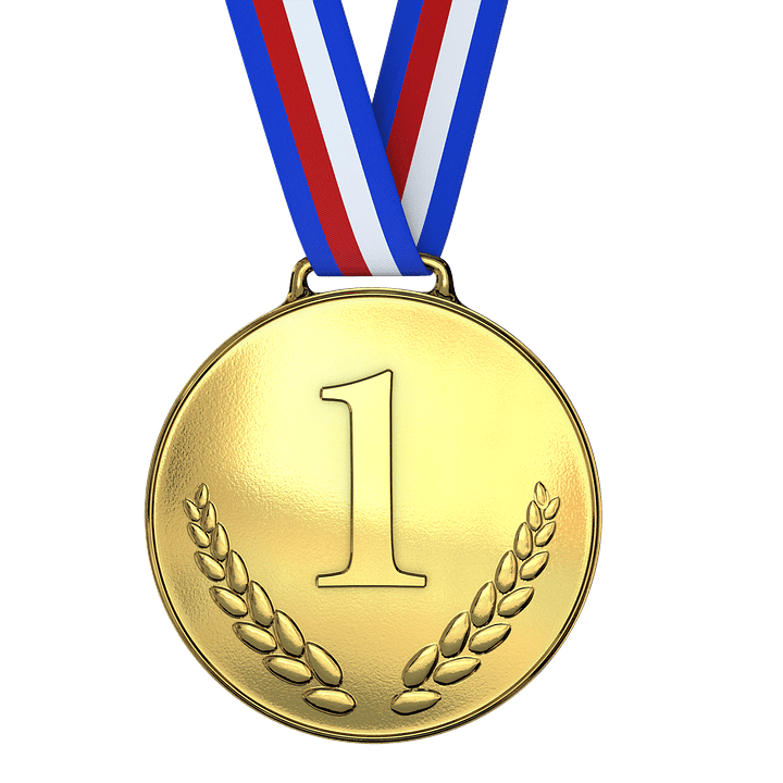 Award transparent gold medal. First one png stickpng