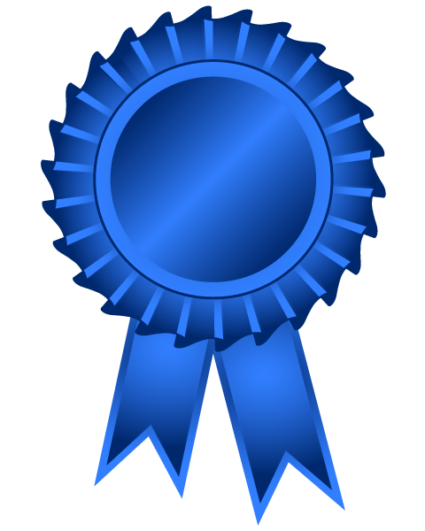 Award transparent ribbon. Collection of clipart