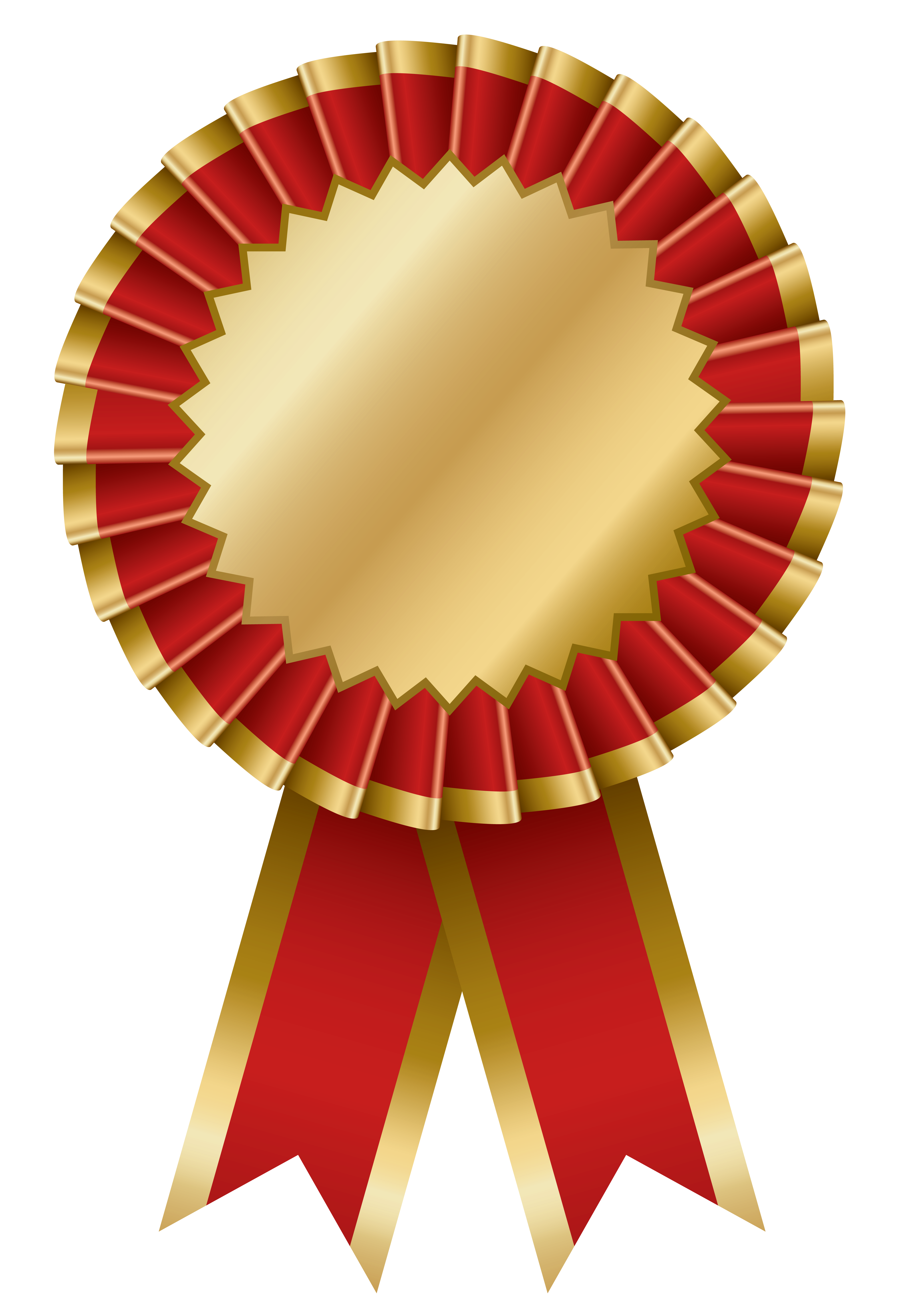 Award transparent rosette. Collection of ribbon
