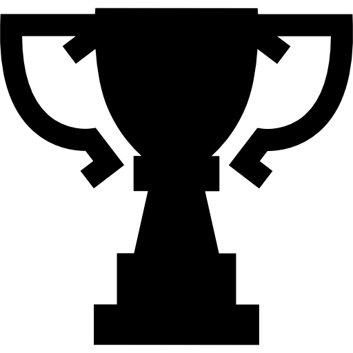 Award transparent silhouette. Trophy cup of big