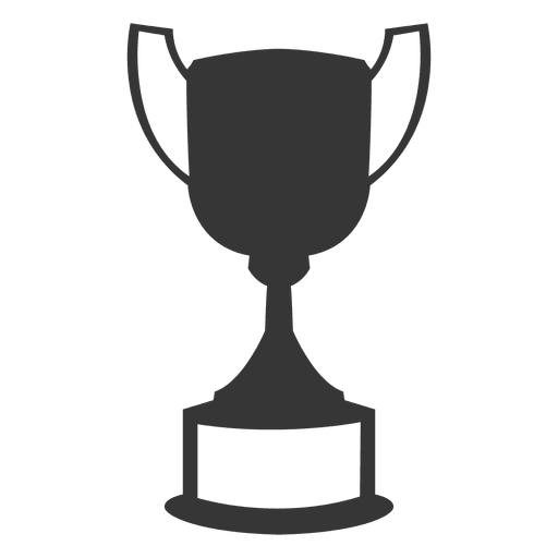 Award transparent silhouette. Trophy cup png svg