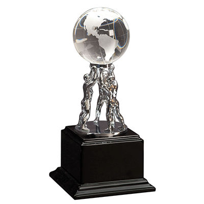 Award transparent staff recognition. Employee awards personalized engraved