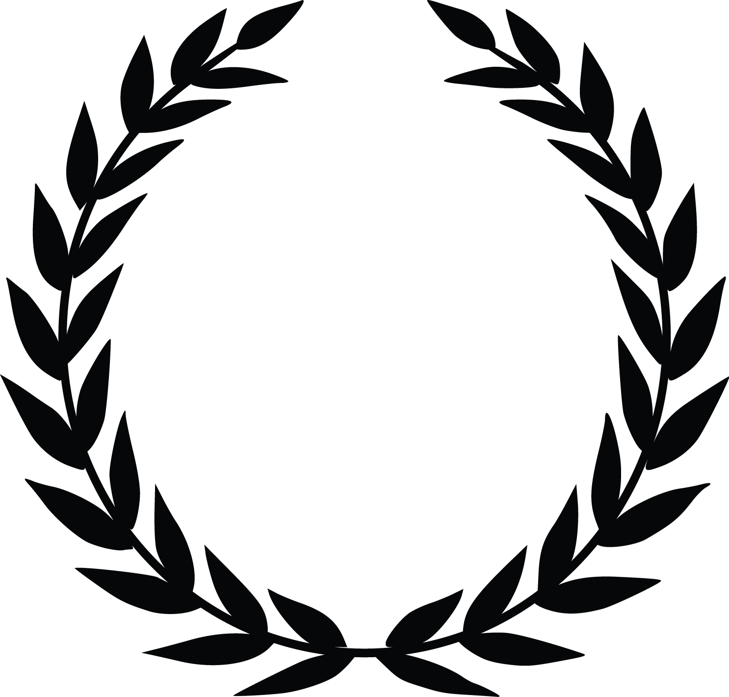 Award wreath png. Laurel silhouette at getdrawings