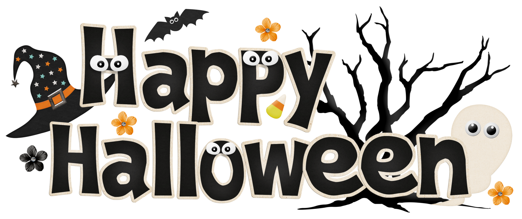 Halloween banner png. Surprise party clip art