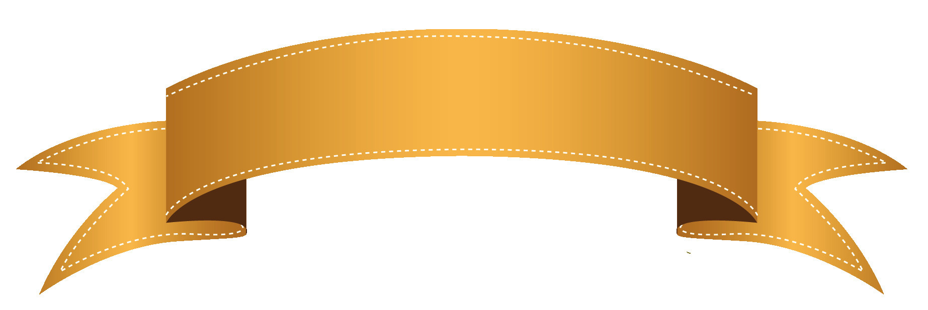 Awesome clipart transparent. Ribbon banner png orange