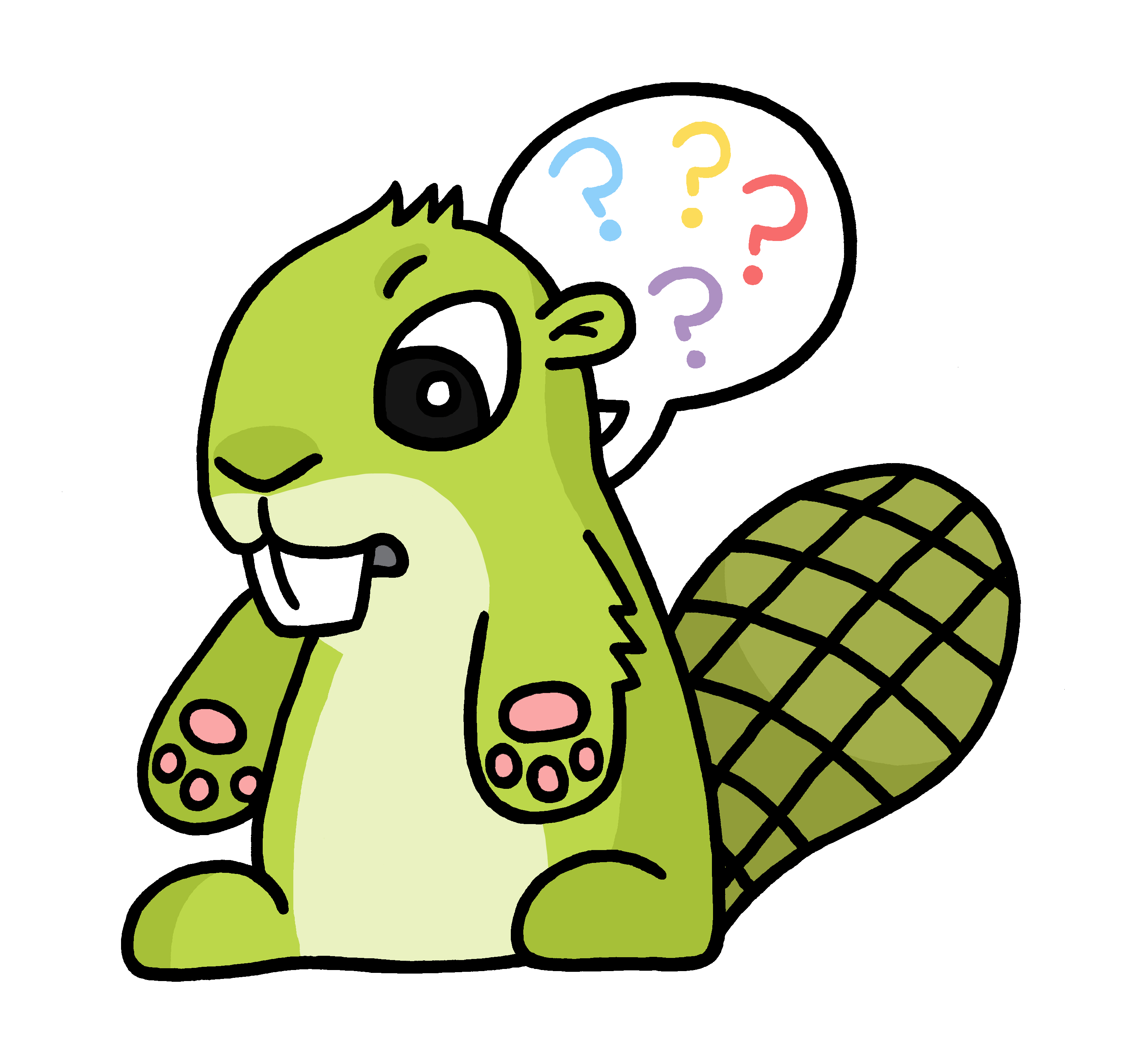 confused cartoon transparent png