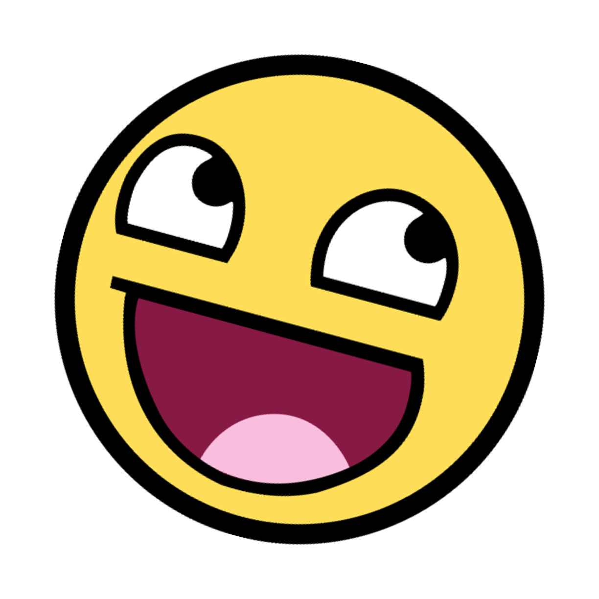 Epic smiley png. Image awesome face pose
