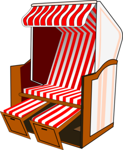 Awning vector transparent. Beach chair with striped