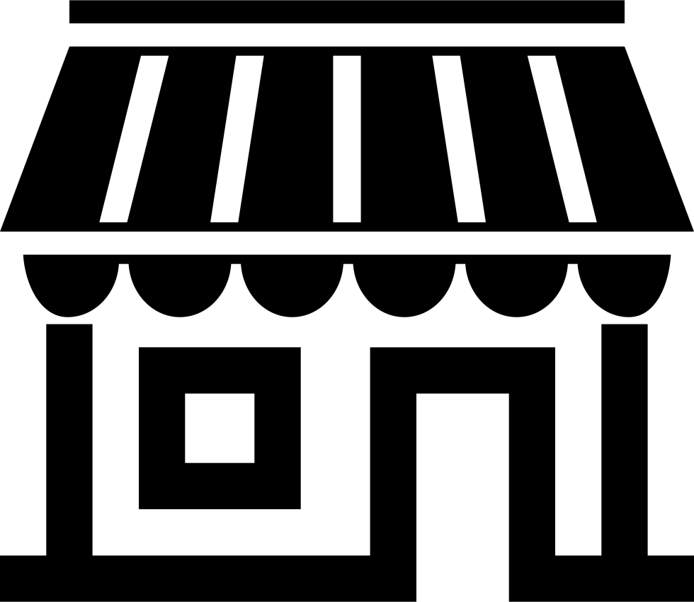 Awning vector black and white. My micro shop svg