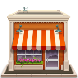 Awning vector candy shop. Mb likes ui