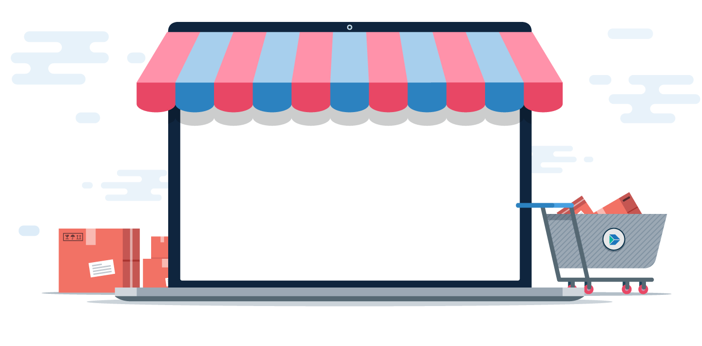 Awning vector candy shop. Create your free online