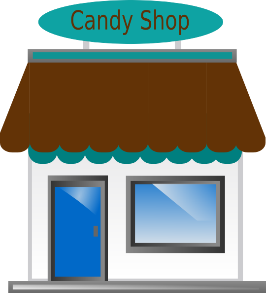 Awning vector clip art. Shop front freeuse