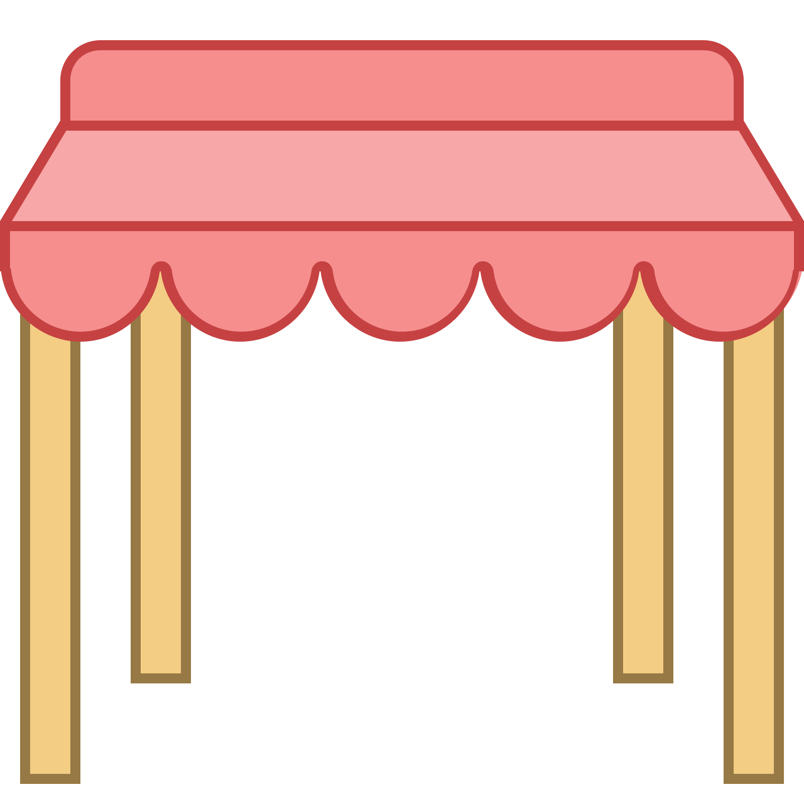 Awning vector roof. Pawilon icon free download