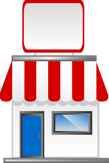 Storefront vector awning. Free photo shop store