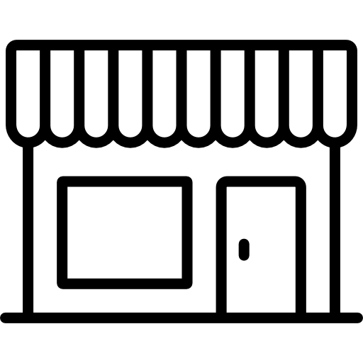 Awning vector yellow white. Store icons free download