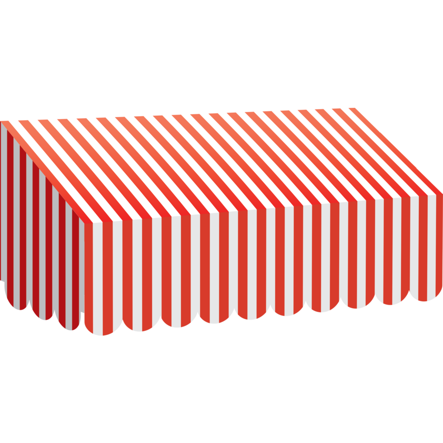Awning vector striped. Red unique white stripes