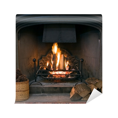 Awning vector striped. Stone fireplace with a