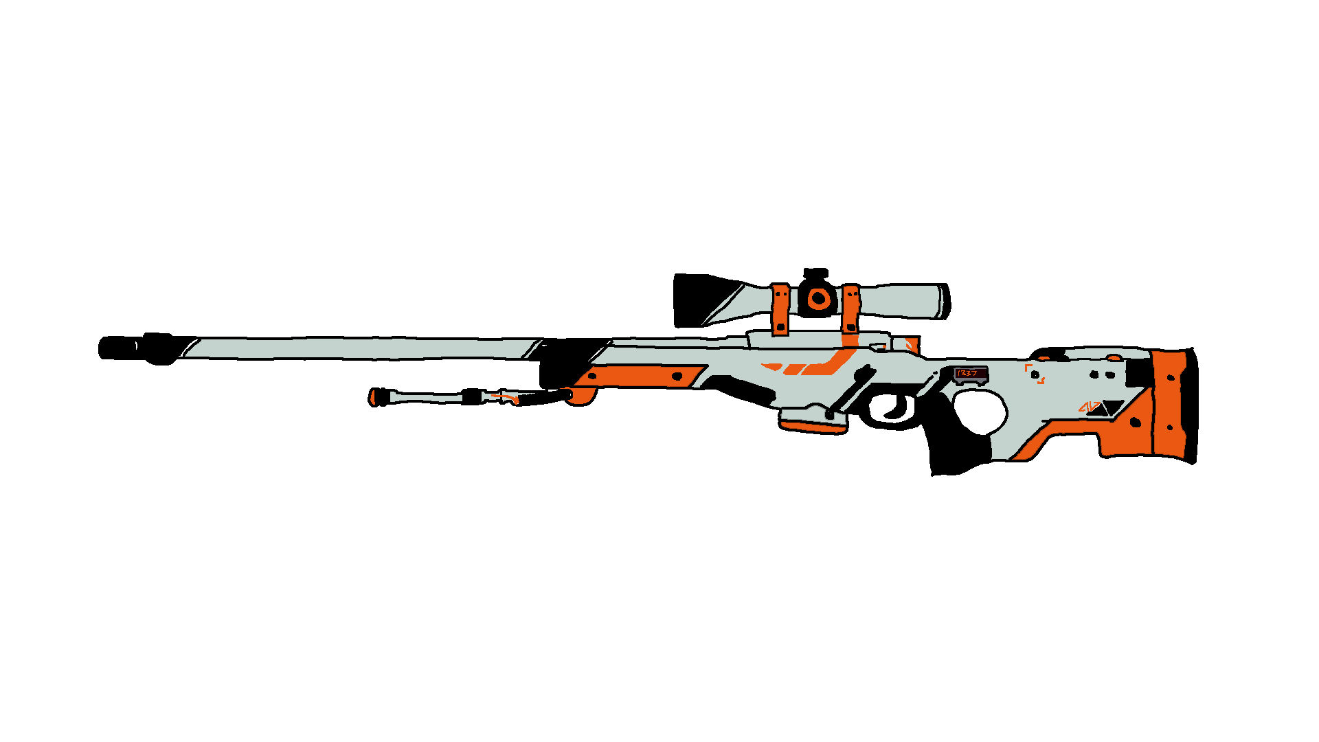 Awp medusa png. Drawn sniper cs go